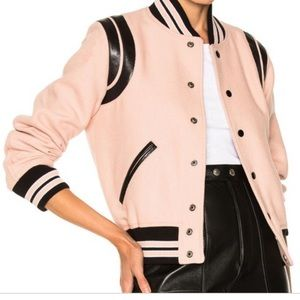 Saint Laurent pink teddy jacket